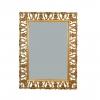 Miroir baroque en bois doré ajouré rectangulaire
