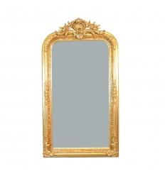 Miroir baroque coquillage - H: 150 cm