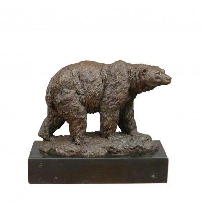 Statue en bronze d'un ours - Sculptures bronze d'animaux sauvages -