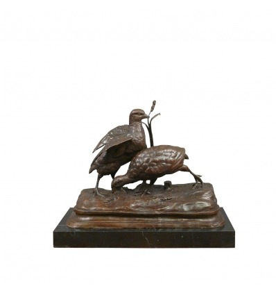 Bronze statue - The two partridges