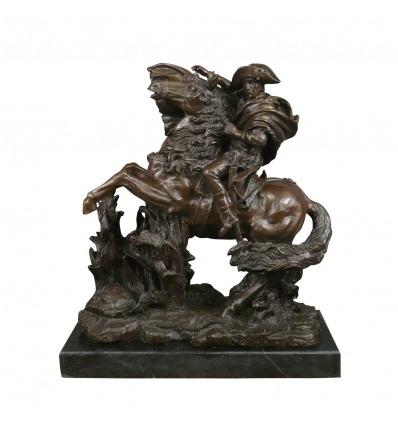 Bronsstaty av Napoléon - historiska skulptur -