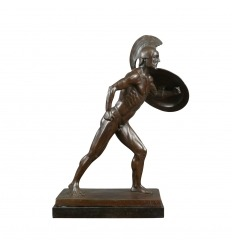 La estatua romana Gladiator - bronce