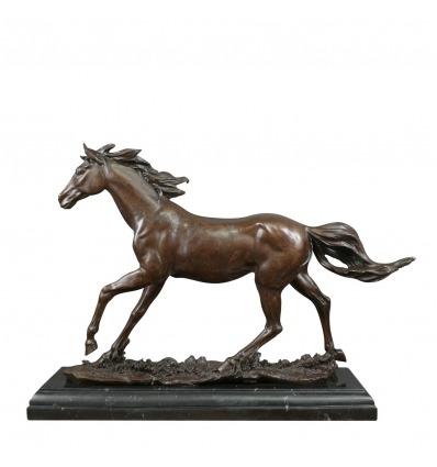 Cheval en bronze - Statue en bronze d'un cheval - Sculpture bronze -
