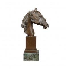 Statue en bronze - Buste d'un cheval