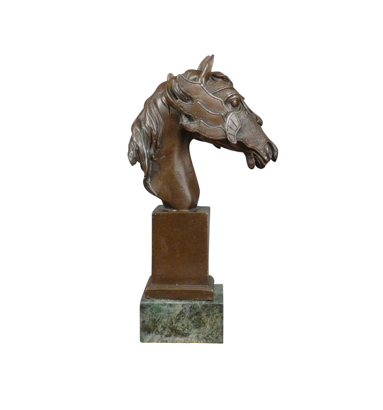 A Bronze Statue Of The Bust Of A Horse Sculpture Horse