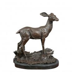 Bronze sculpture - The doe