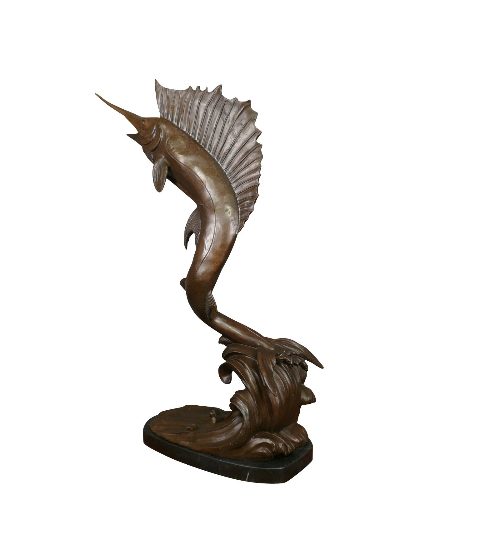 Bronze Sculpture Swordfish Statues For The Fisher