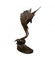Escultura de bronce - pez espada
