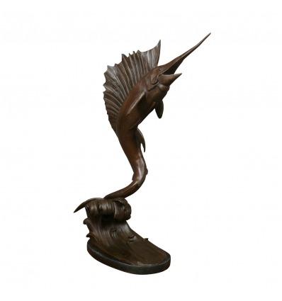 Bronzeskulptur - Schwertfisch