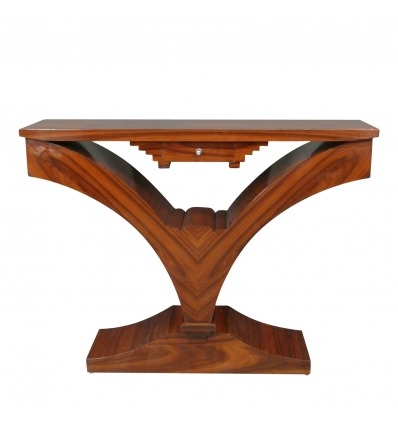 Console in stile art deco in legno di palissandro, in stile art deco.