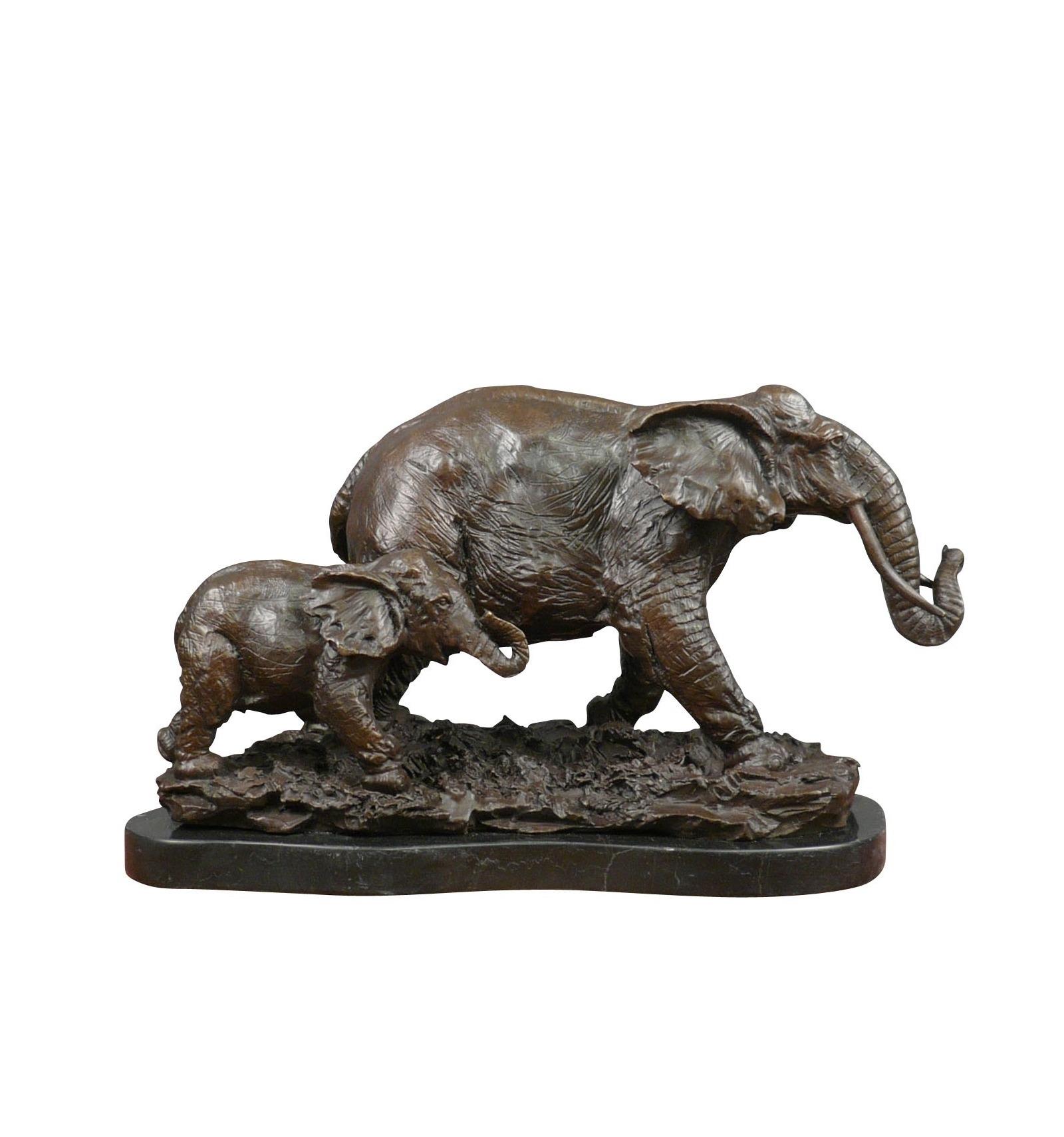 Scultura in bronzo elefante e suo elefante statue for Suo e suo armadio