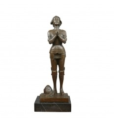 Sculpture en bronze - Jeanne d'arc