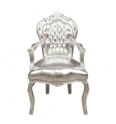Barock Sessel Silber