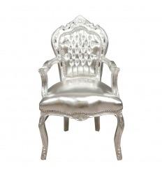 Baroque armchair silver
