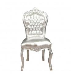 Chaise baroque argentée