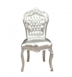Silver baroque chair