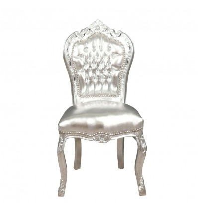 Ezüst barokk szék - barokk bútor a nappaliban -