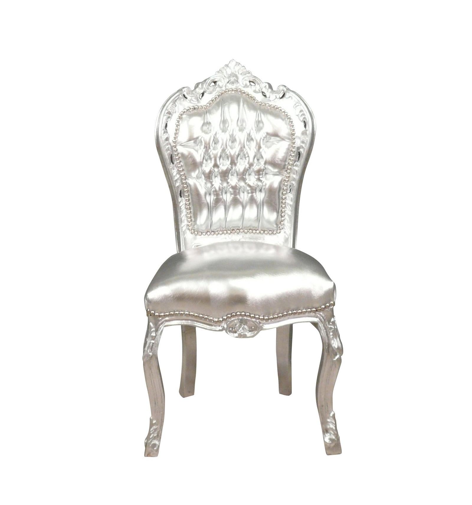 chaise baroque argent e pouf canap commode et meuble design. Black Bedroom Furniture Sets. Home Design Ideas
