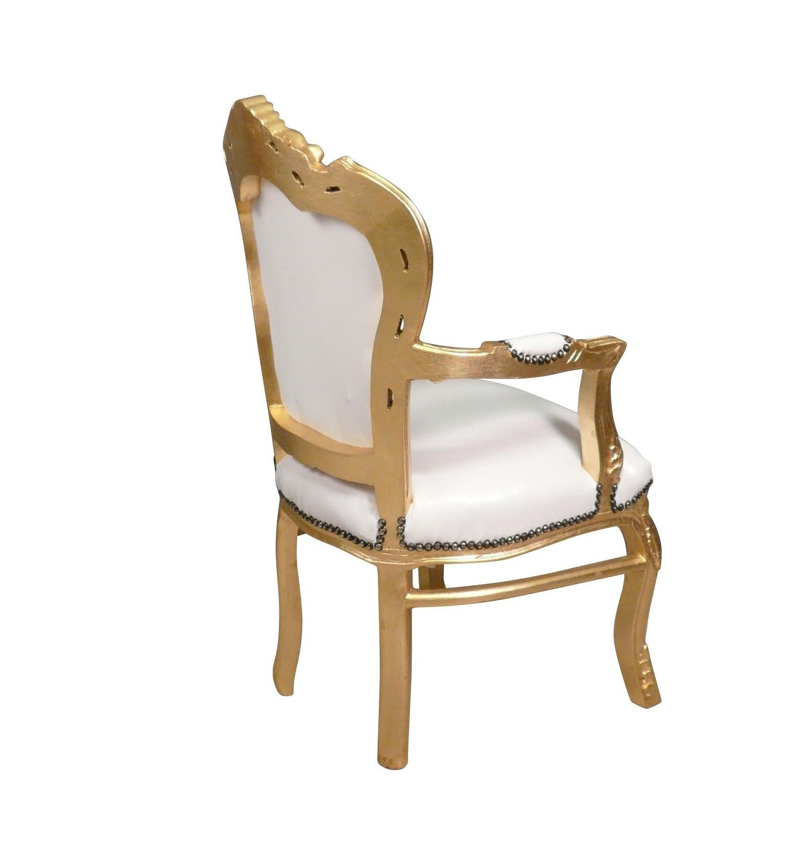 fauteuil baroque blanc et dor chaise et meubles art d co. Black Bedroom Furniture Sets. Home Design Ideas