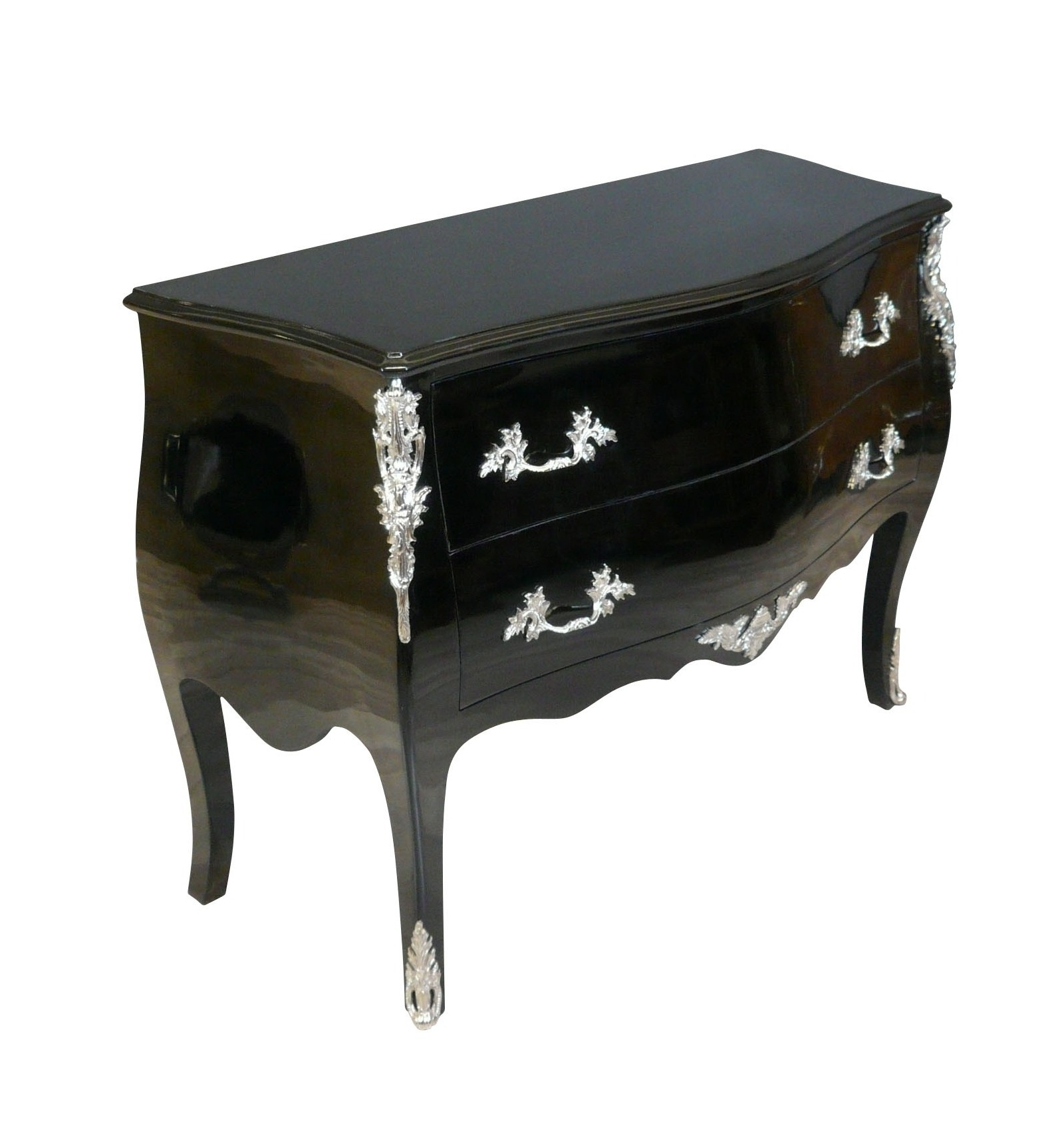 commode baroque noire style louis xv. Black Bedroom Furniture Sets. Home Design Ideas
