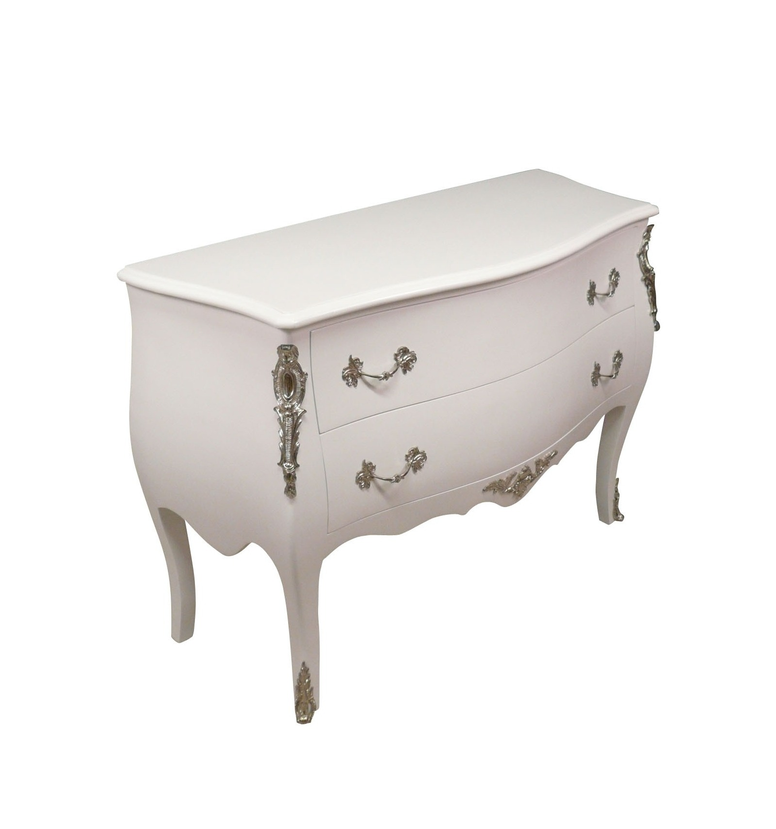 Baroque commode white louis xv baroque furniture - Commode noire baroque ...