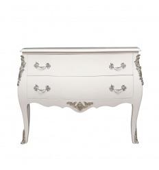 Baroque white Louis XV commode