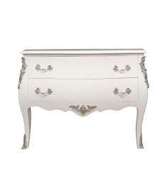 Commode baroque blanche Louis XV