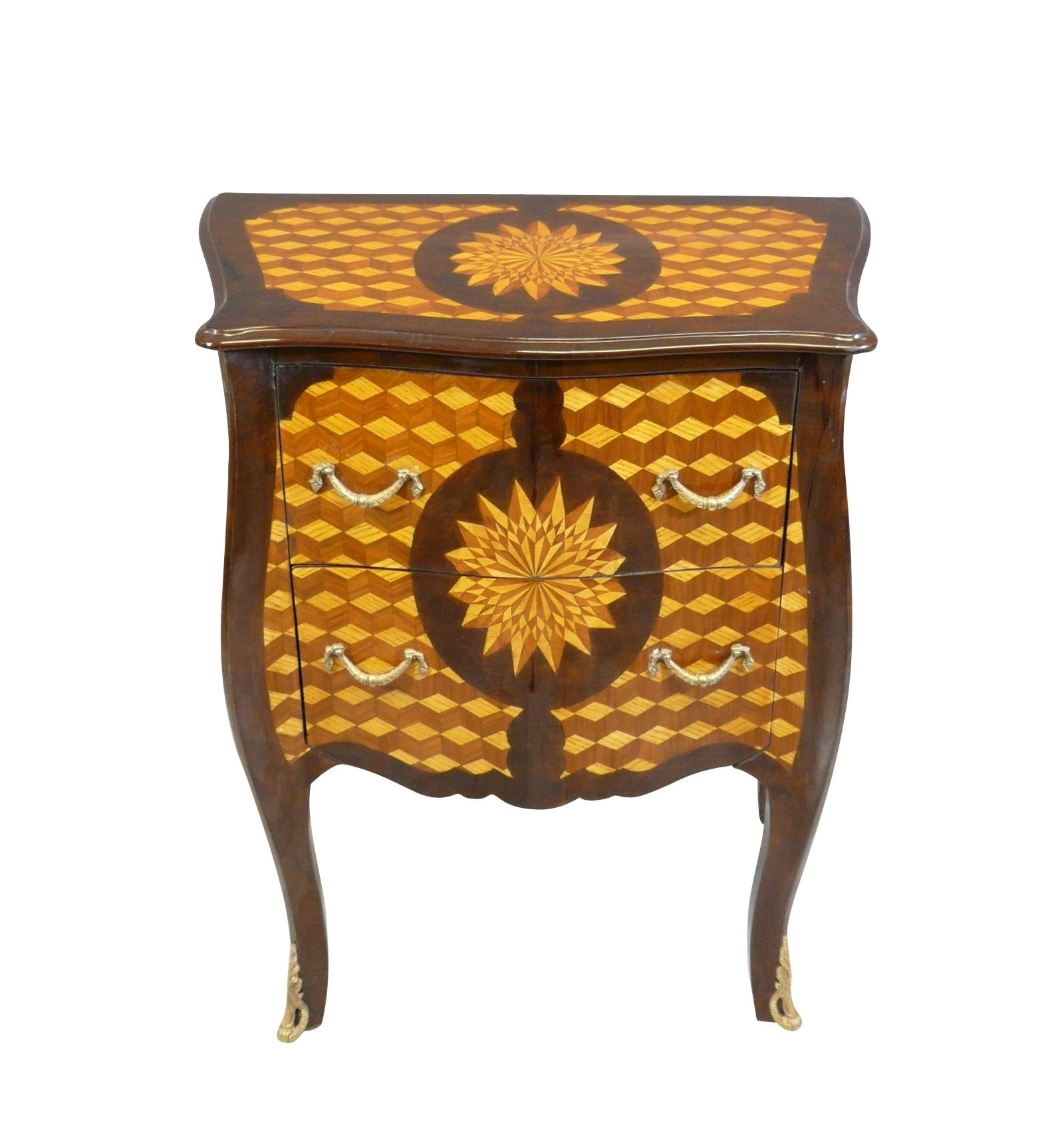 commode louis xv la marqueterie de losanges et toiles. Black Bedroom Furniture Sets. Home Design Ideas