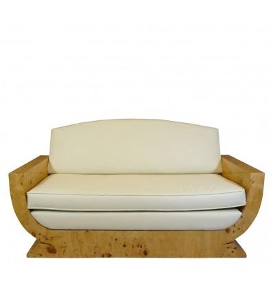 Sohva art deco Elm suurennuslasi