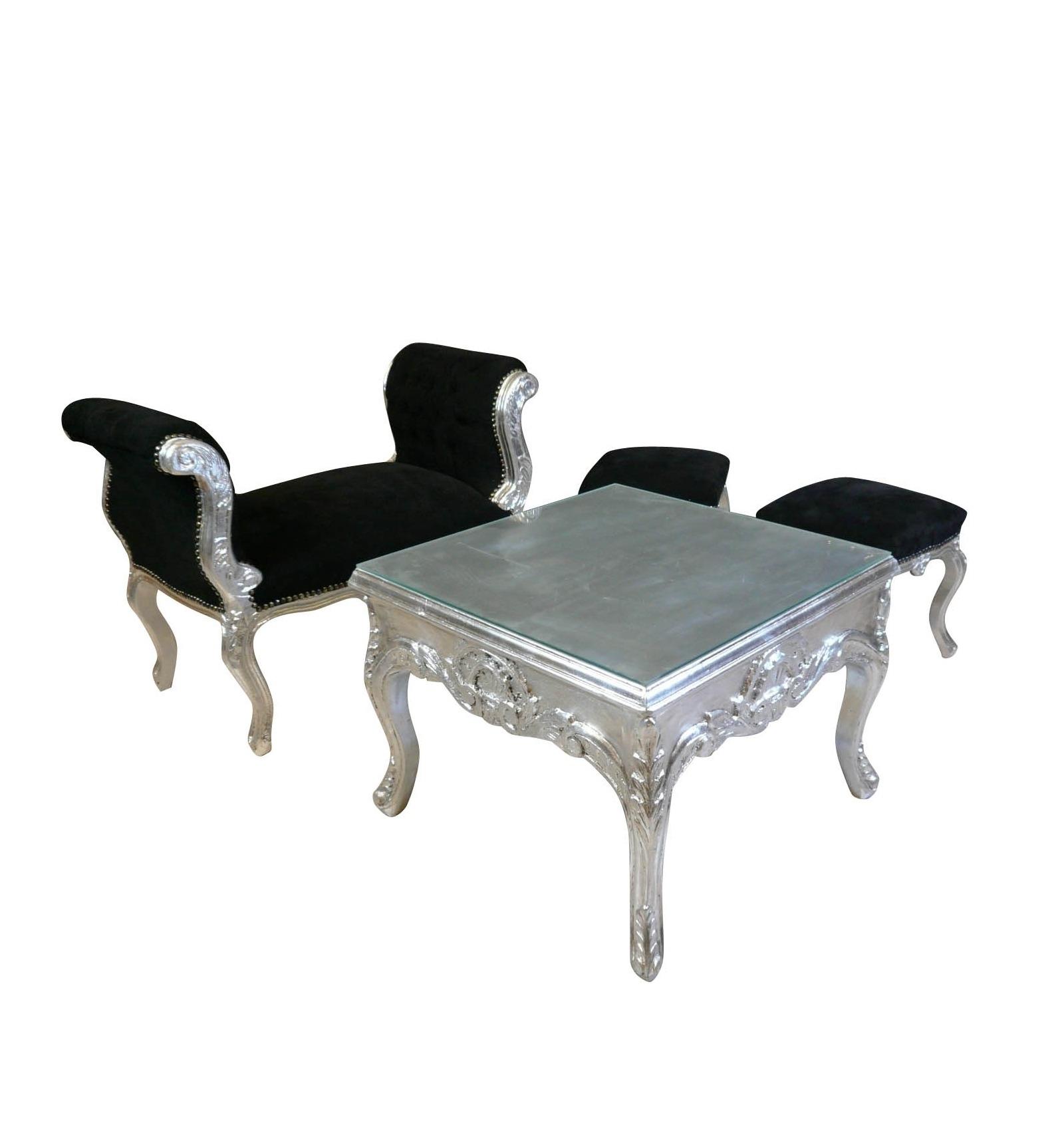 table basse argentee. Black Bedroom Furniture Sets. Home Design Ideas