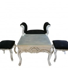 Silver baroque coffee table