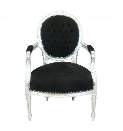 https://htdeco.fr/931-thickbox_default/fauteuil-louis-xvi-en-velours-noir-et-bois-argenté.jpg