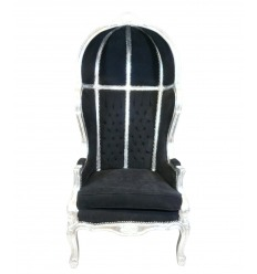 Barock Sessel schwarz Kutsche