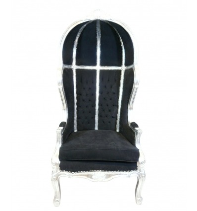 Baroque armchair black coach - Baroque furniture for sale -