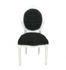 Musta tyyli Louis XVI tuoli barokki