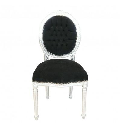 Louis XVI szék barokk stílusú fekete