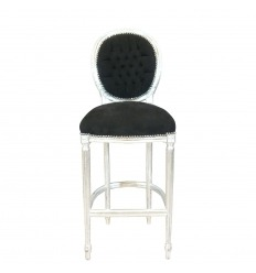 Barhocker Stuhl Barock im Stil Louis XVI