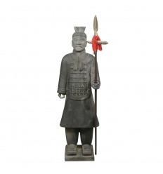 Chinesische Offizier Krieger Statue 100 cm