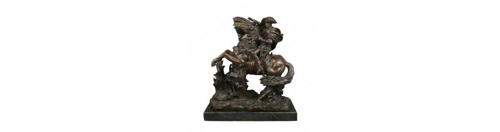 Estatuas de bronce de la histórica