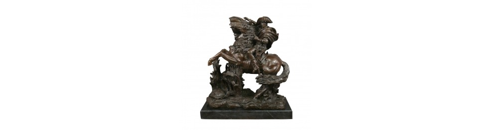 Statue in bronzo del centro storico di