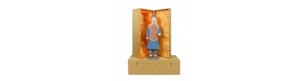 Statuetter af kinesiske Xian krigere i 40 cm