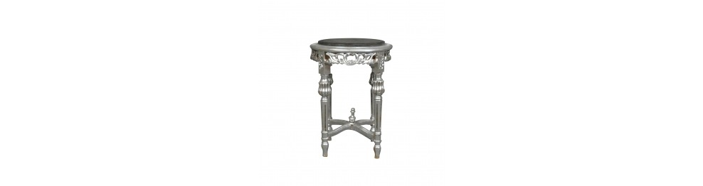 Bolster and baroque pedestal