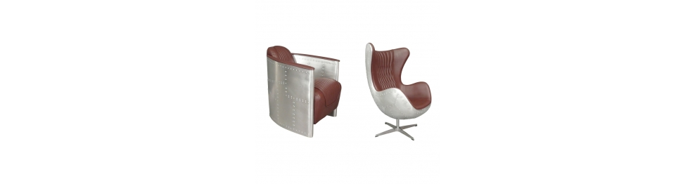 Aviator armchairs