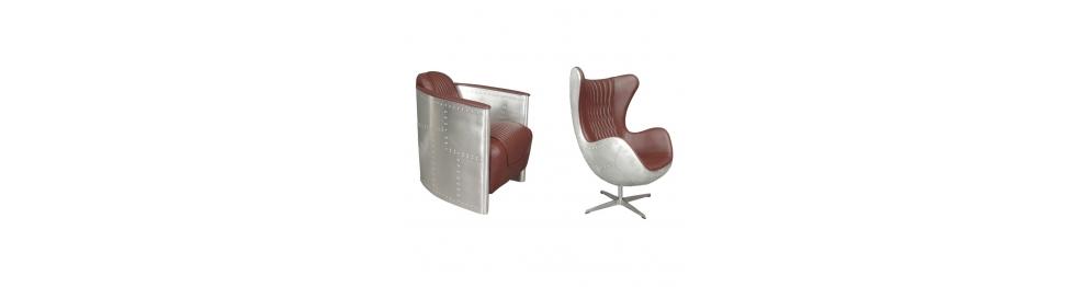 Aviator lænestole i aluminium
