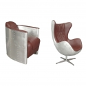 Aviator fotele z aluminium
