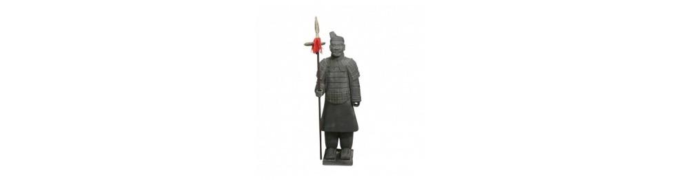 Estatuas de soldados en terracota de Xian en 100 cm