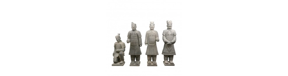 Statuer af soldater Xian af 185 cm