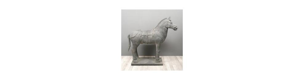Estatuas de caballos del ejército xian.