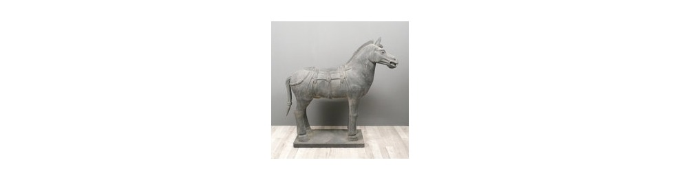 Statuen von Xian Armeepferden