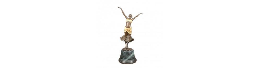 Statuen aus bronze art déco stil